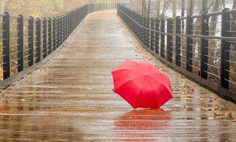 悲伤地谈论雨天